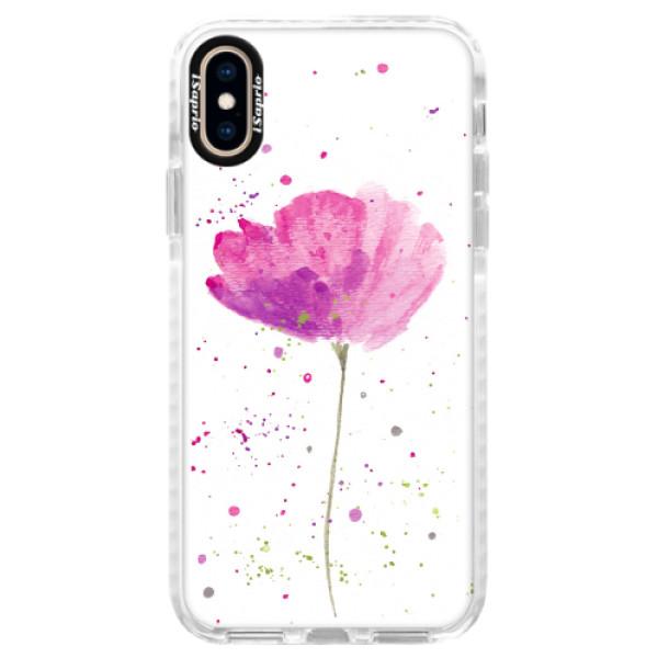 Silikonové pouzdro Bumper iSaprio - Poppies - iPhone XS