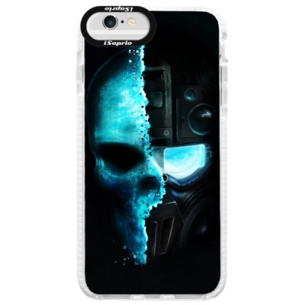 Silikonové pouzdro Bumper iSaprio - Roboskull - iPhone 6 Plus/6S Plus