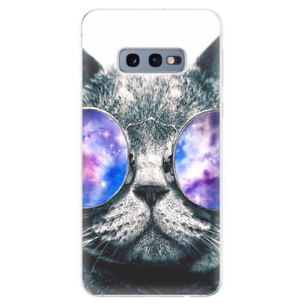 Odolné silikonové pouzdro iSaprio - Galaxy Cat - Samsung Galaxy S10e