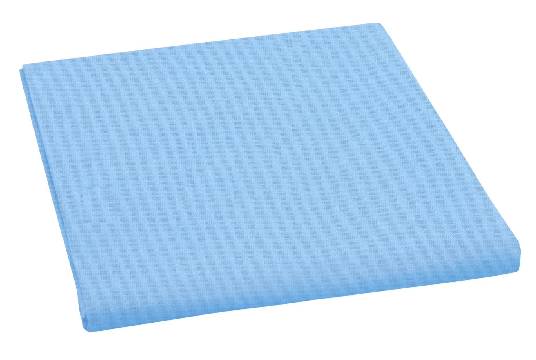 Prostěradlo bavlněné jednolůžkové 140x230cm modré II. jakost