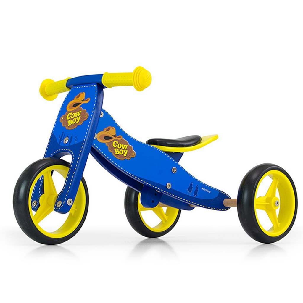 Dětské multifunkční odrážedlo kolo 2v1 Milly Mally JAKE - blue Cowboy - modrá