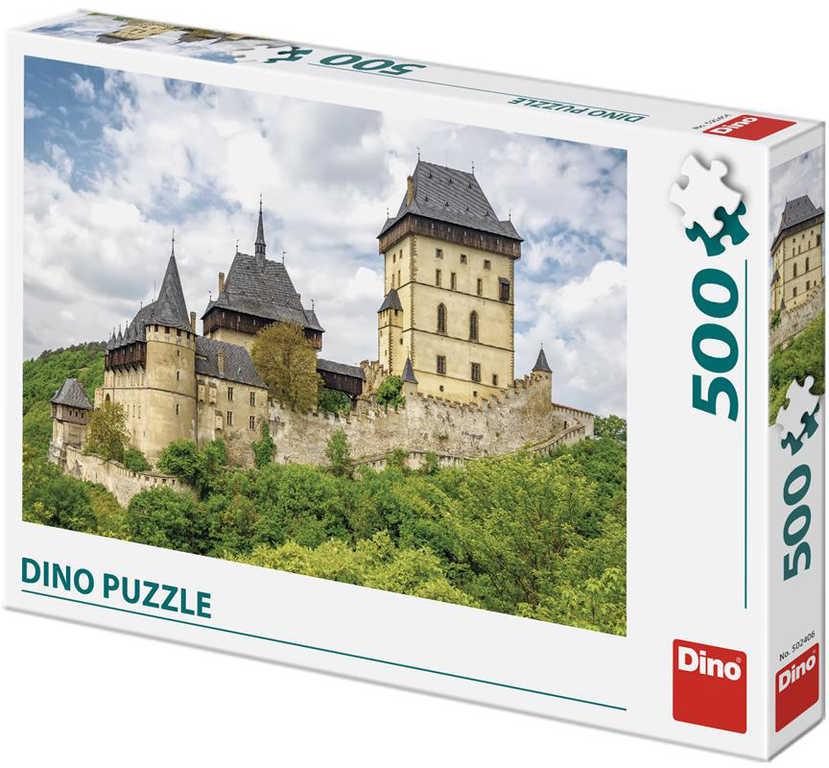 DINO Puzzle Hrad Karlštejn foto 500 dílků 47x33cm skládačka v krabici