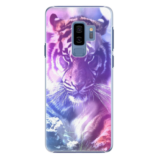 Plastové pouzdro iSaprio - Purple Tiger - Samsung Galaxy S9 Plus