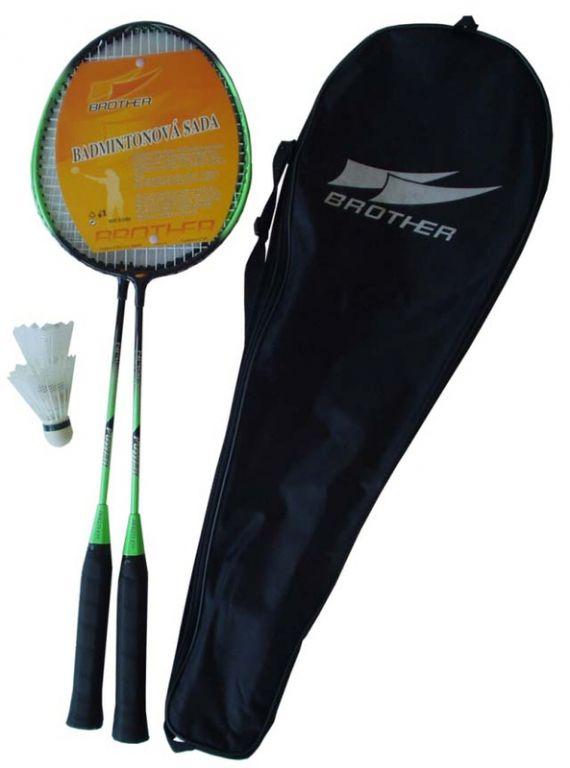 Badmintonová sada 2 pálky + 2 košíčky + pouzdro