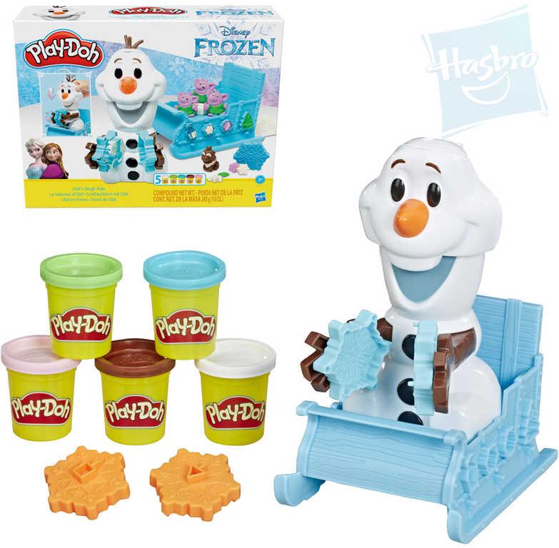 HASBRO PLAY-DOH Olaf a sněhové kreace set modelína s doplňky Ledové Království