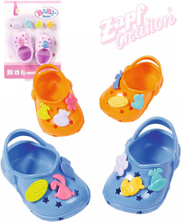 ZAPF BABY BORN Set sandálky gumové + 6 ozdob pro panenku miminko