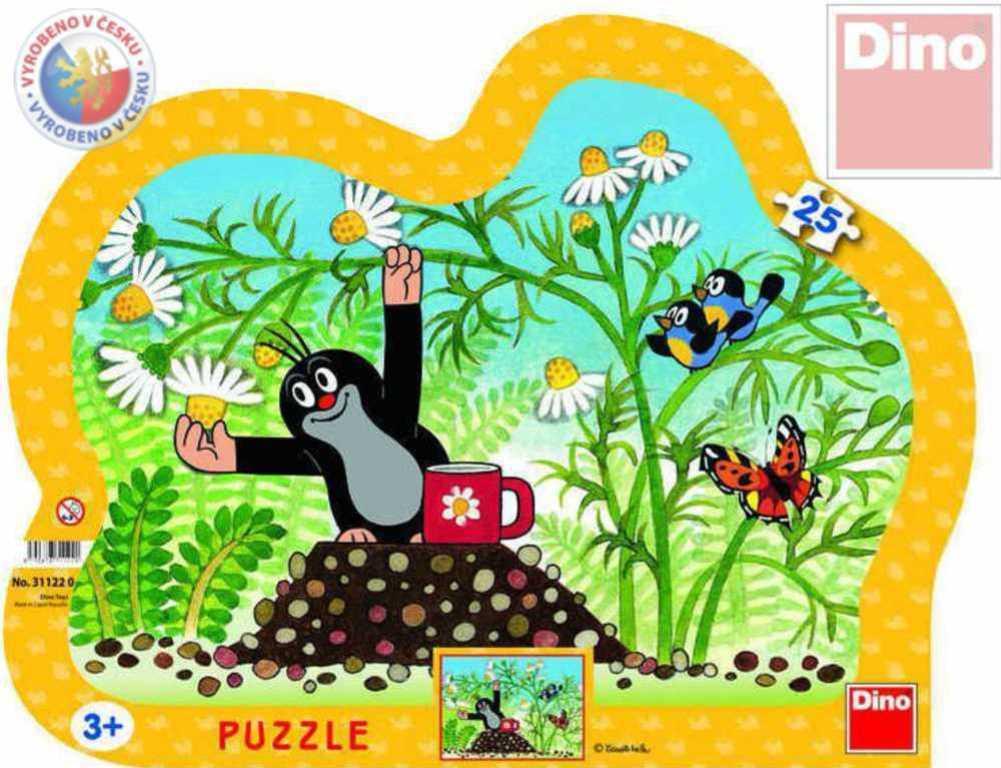 DINO Puzzle KRTEK (Krteček) s hrníčkem 25 dílků kontura