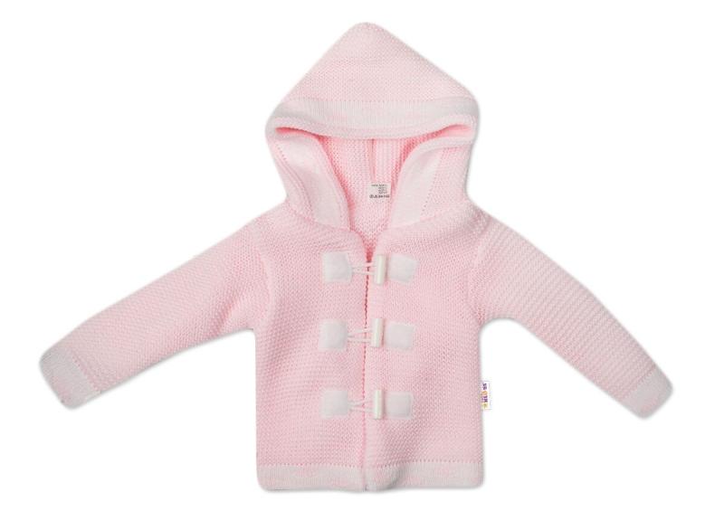 Baby Nellys Dvouvrstvý kojenecký svetřík s kapucí