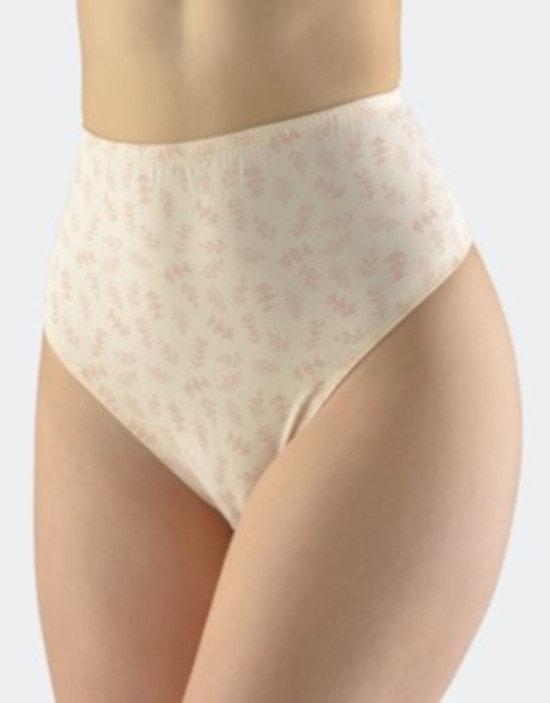 GINA dámské kalhotky klasické ve větších velikostech, šité, s potiskem 11065P - pleťová starorůžová