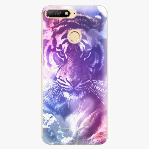 Plastový kryt iSaprio - Purple Tiger - Huawei Y6 Prime 2018