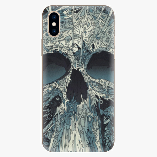 Silikonové pouzdro iSaprio - Abstract Skull - iPhone XS