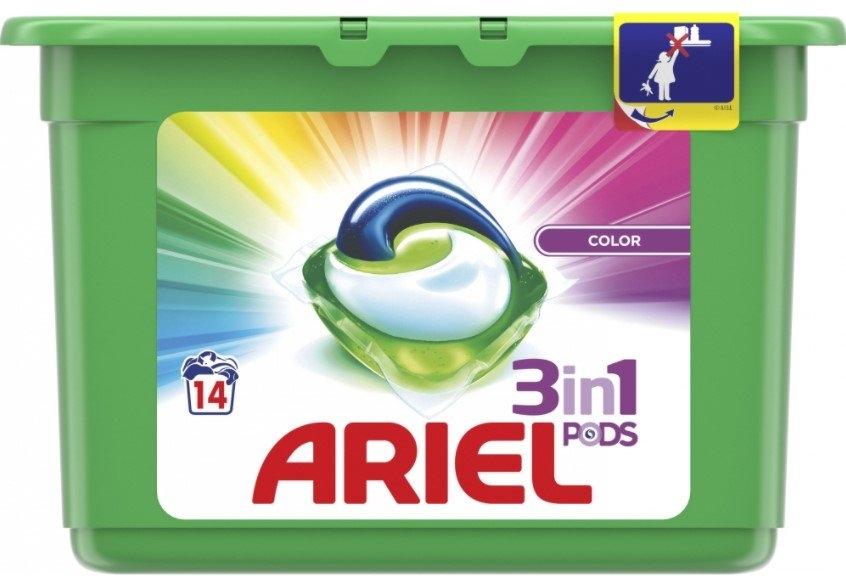 Ariel Color kapsle na praní, 14 ks