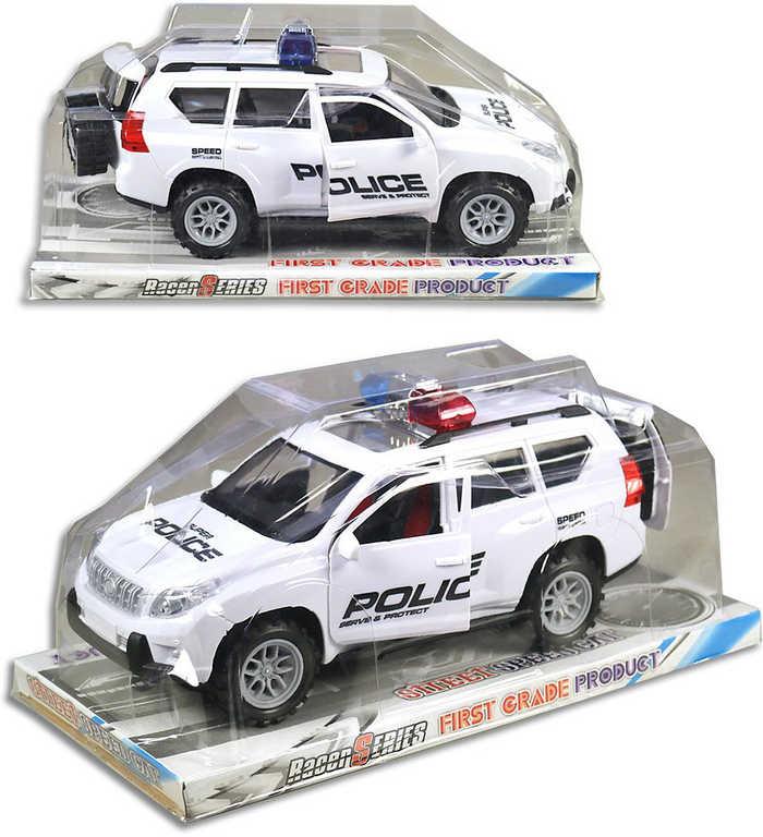 Auto policejní plastové na setrvačník 30 cm džíp bílý policie