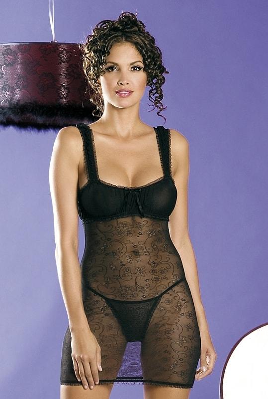 Košilka Obsessive Mirell chemise - Černá - L/XL