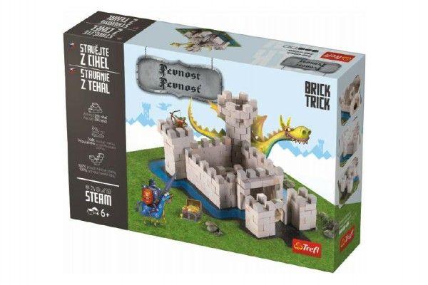 Stavějte z cihel Pevnost stavebnice Brick Trick v krabici 36x25x7cm