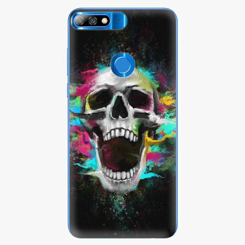 Silikonové pouzdro iSaprio - Skull in Colors - Huawei Y7 Prime 2018