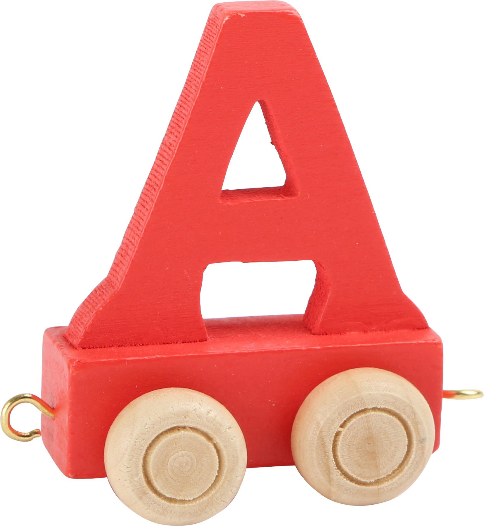 Dřevěný vláček barevná abeceda písmeno A