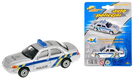 Auto Policie 7cm kovové na kartě