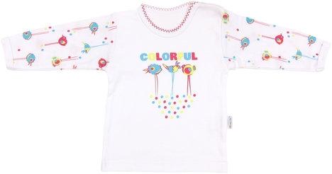 Bavlněné tričko Bird - dlouhý rukáv, roz. 98 - 98 (24-36m)