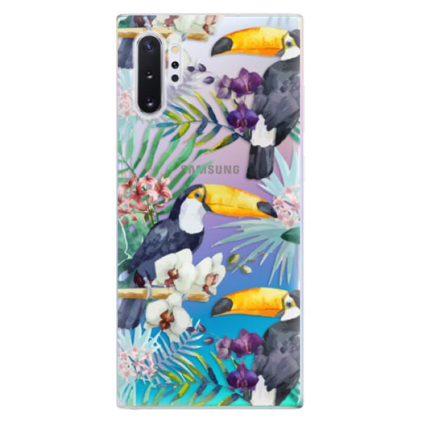 Odolné silikonové pouzdro iSaprio - Tucan Pattern 01 - Samsung Galaxy Note 10+