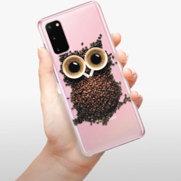 Plastové pouzdro iSaprio - Owl And Coffee - Samsung Galaxy S20