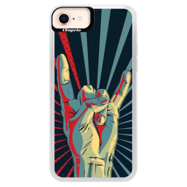 Neonové pouzdro Pink iSaprio - Rock - iPhone 8