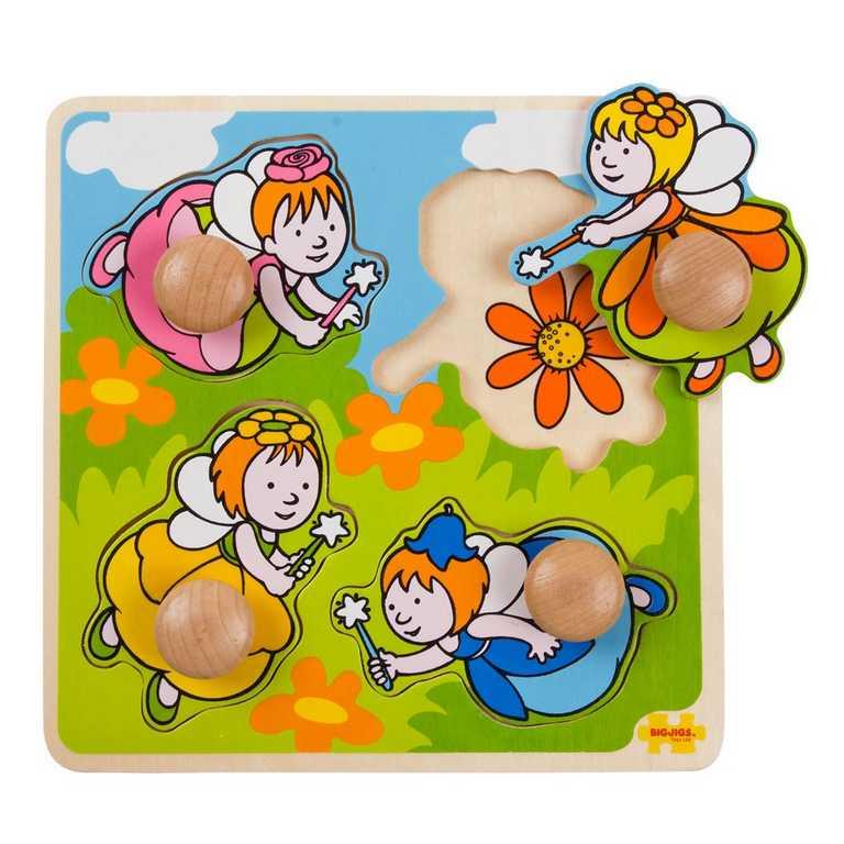 Bigjigs Toys Vkládací puzzle víly