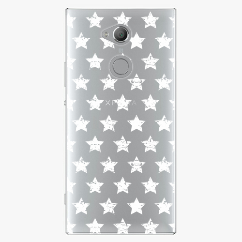 Plastový kryt iSaprio - Stars Pattern - white - Sony Xperia XA2 Ultra