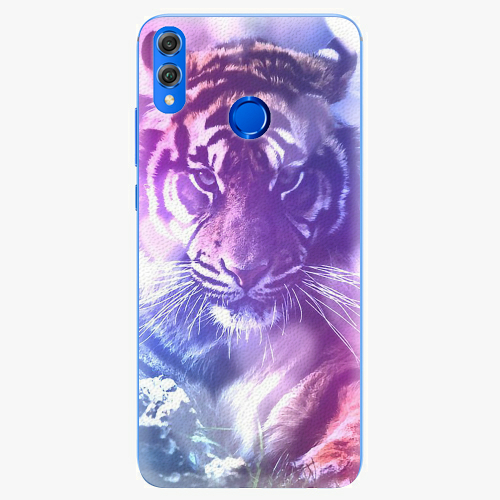 Silikonové pouzdro iSaprio - Purple Tiger - Huawei Honor 8X