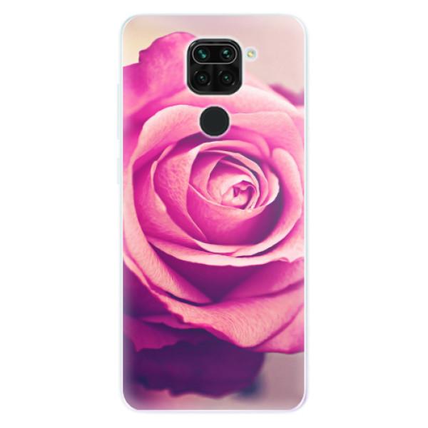 Odolné silikonové pouzdro iSaprio - Pink Rose - Xiaomi Redmi Note 9