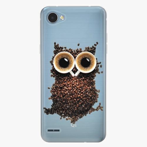 Plastový kryt iSaprio - Owl And Coffee - LG Q6