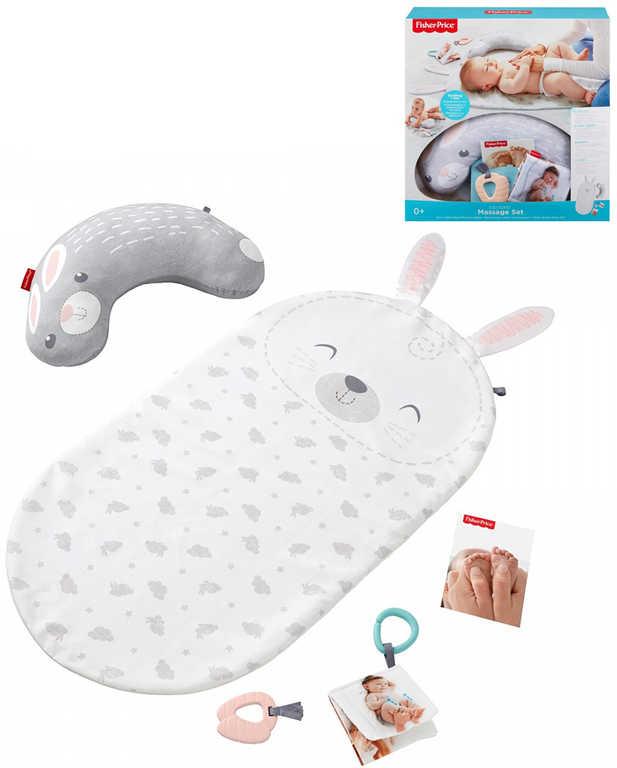 FISHER PRICE Baby Bunny dečka masážní s kousátkem pro miminko