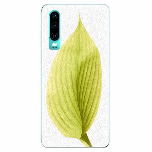 Silikonové pouzdro iSaprio - Green Leaf - Huawei P30