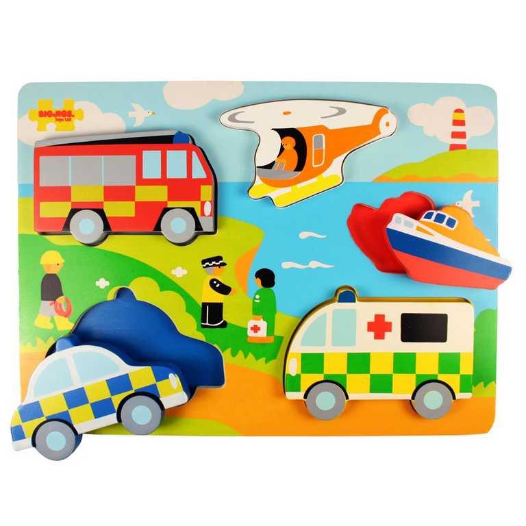 Bigjigs Toys Vkládací puzzle záchranáři