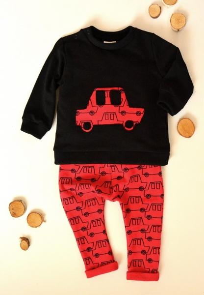 K-Baby Sada triko/mikinka + tepláčky Auto