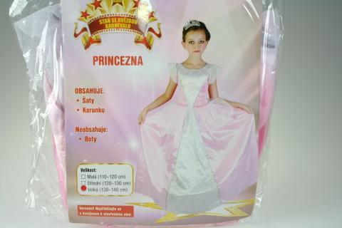 Šaty Princezna 130- 140 cm