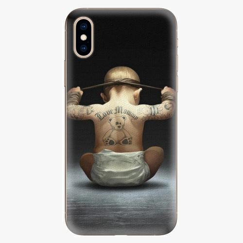 Silikonové pouzdro iSaprio - Crazy Baby - iPhone XS
