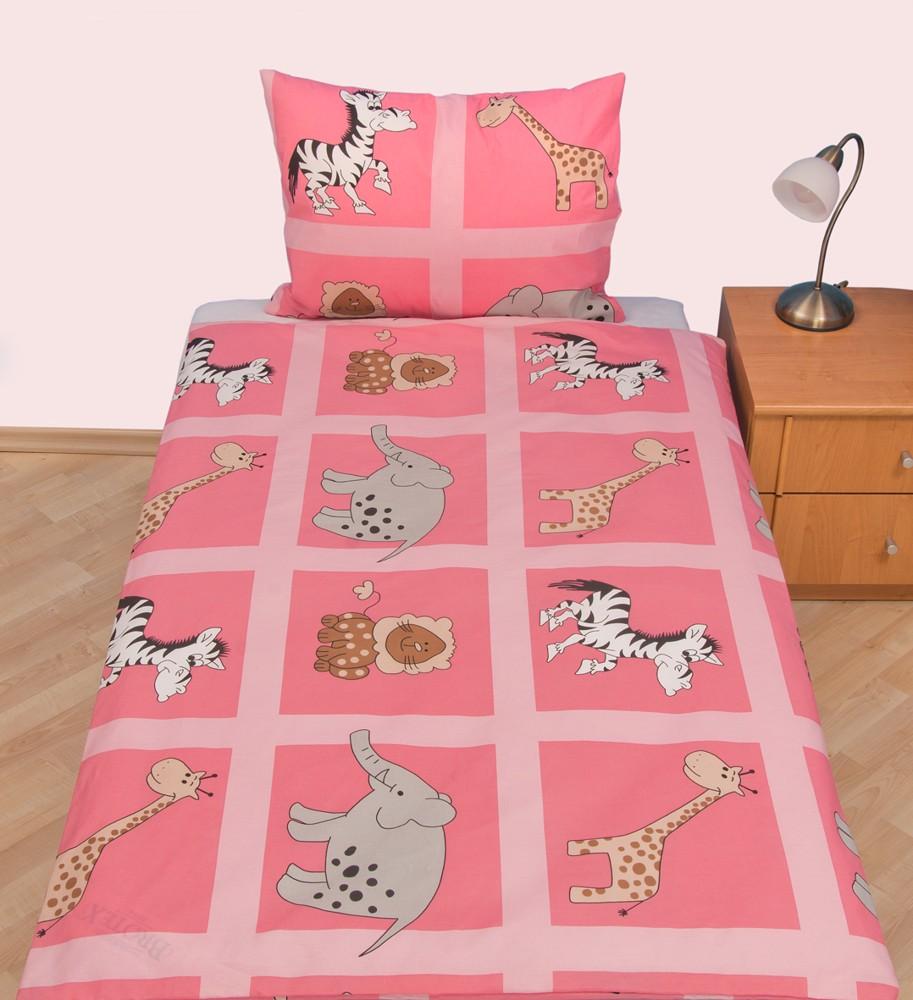 Povlečení dětské bavlna velká postel Safari růžové, Výběr zapínání: