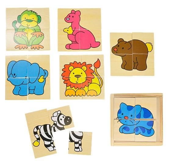 DŘEVO Puzzle dřevěné zvířátka * DŘEVĚNÉ HRAČKY *