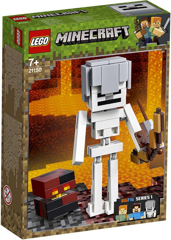 LEGO MINECRAFT Velká figurka: Kostlivec s pekelným slizem 21150