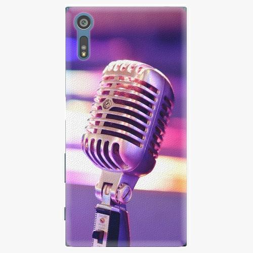 Plastový kryt iSaprio - Vintage Microphone - Sony Xperia XZ