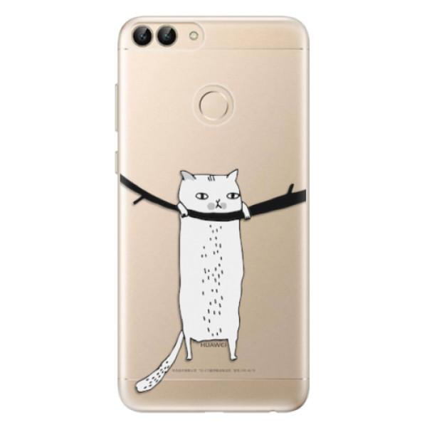 Odolné silikonové pouzdro iSaprio - Hang in there - Huawei P Smart