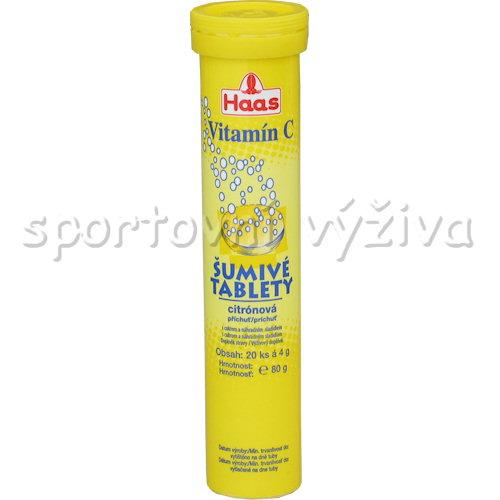 Haas Vitamin C citron 20 šumivých tablet