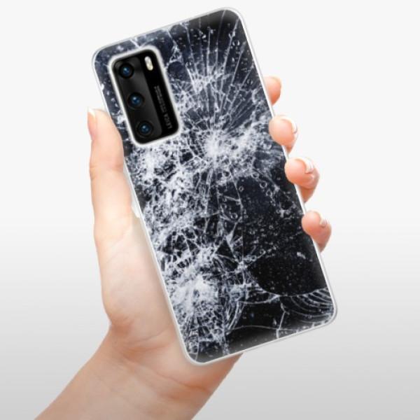 Odolné silikonové pouzdro iSaprio - Cracked - Huawei P40