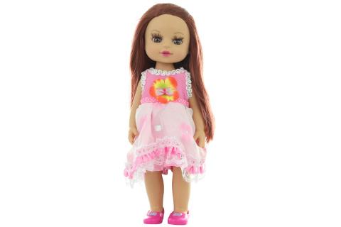 Panenka v růžových šatech v sáčku