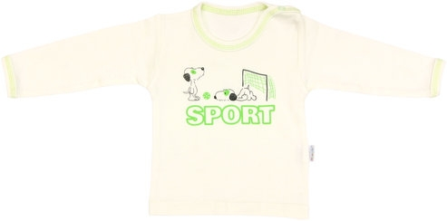 Bavlněné tričko Dog - dlouhý rukáv - 74 (6-9m)