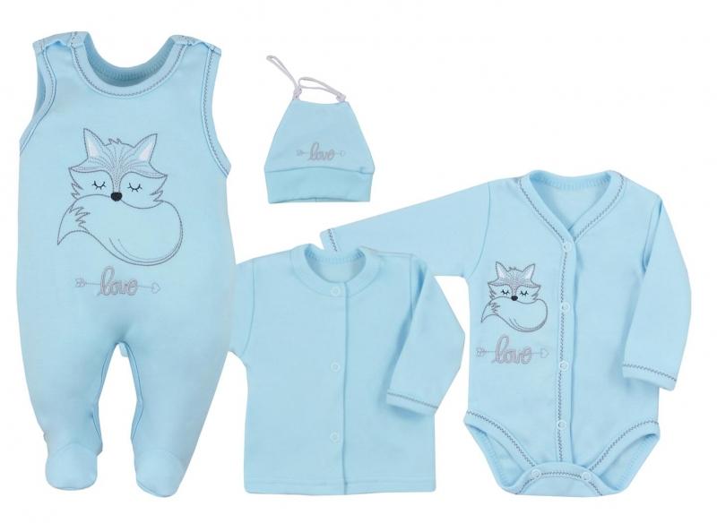 Koala Baby 4 dílná bavlněná soupravička do porodnice Fox Love