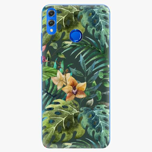 Silikonové pouzdro iSaprio - Tropical Green 02 - Huawei Honor 8X