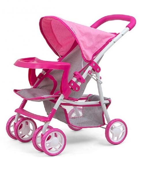 Milly Mally Sportovní kočárek pro panenky - Kate Prestige - růžový