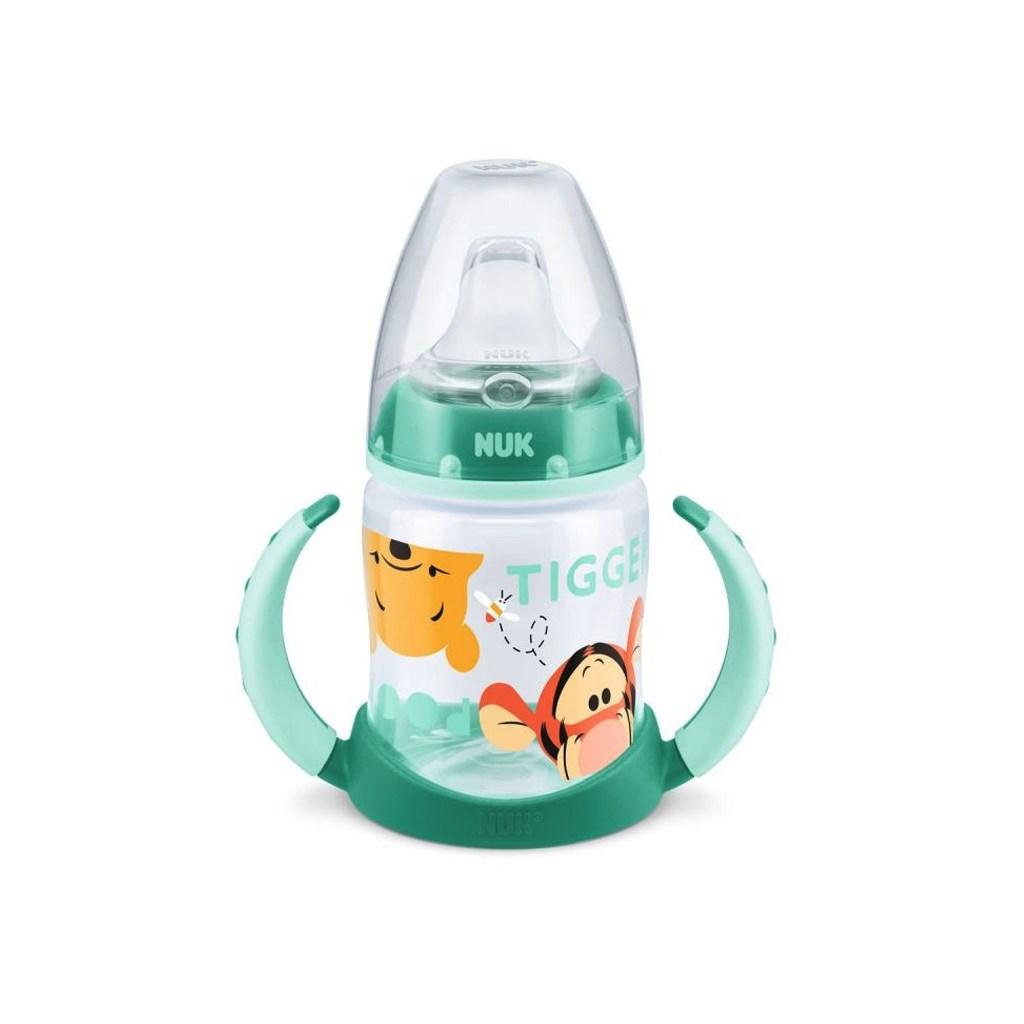 Kojenecká láhev na učení NUK 150 ml Disney Medvídek - Pu - zelená